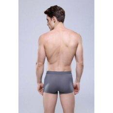 ราคา กางเกงชั้นในผู้ชาย สวมใส่สบาย ต่อต้านแบคทีเรีย สีเทาเข้ม เป็นต้นฉบับ
