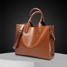 ราคา สุภาพสตรีสีทึบแท้กระเป๋าถือกระเป๋าสะพายไหล่แพคเกจในแนวทแยง สีน้ำตาลที่จะส่ง กระเป๋ากระเป๋าสตางค์สินค้าฮิตดีลฮอต แพคเกจบัตร ประกันการจัดส่งสินค้า