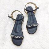ขาย รองเท้าสไตล์มินิมอล ดีไซน์คาดโซ่ พร้อมสายหลัง สีน้ำเงิน ถูก ใน กรุงเทพมหานคร
