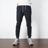 ซื้อ แบรนด์ Tide เสื้อผ้าแฟชั่น กางเกงลำลองป่าชายกางเกงในช่วงฤดูร้อนฟุตสลิม น้ำเงิน ใหม่