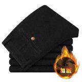 กางเกงฟุตกางเกงผ้าลูกฟูกยืดสลิม สีดำบวกกำมะหยี่หนา ใน ฮ่องกง