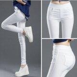 ขาย ซื้อ กางเกงรัดรูปสำหรับผู้หญิงขายาว 9 ส่วน ไซส์ใหญ่ สีขาว สีขาว ฮ่องกง