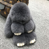 ทบทวน ที่สุด ซูเปอร์เม้งตุ๊กตากระต่ายขนกระต่ายขนาดเล็กถุงรถพวงกุญแจ สีเทาเข้ม