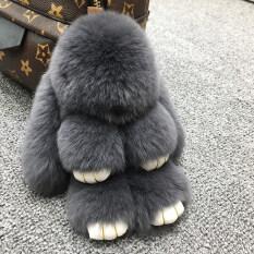 ทบทวน ซูเปอร์เม้งตุ๊กตากระต่ายขนกระต่ายขนาดเล็กถุงรถพวงกุญแจ สีเทาเข้ม