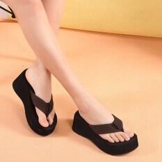 ราคา ในช่วงฤดูร้อนหนักต่ำสุดหญิงรองเท้าแตะลาก กาแฟสี ใหม่