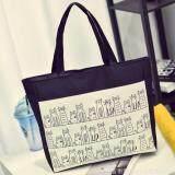 โปรโมชั่น กระเป๋าถือ กระเป๋าผ้าแคนวาส กระเป๋าสะพายข้าง สีดำ ถูก