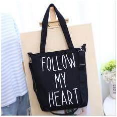 กระเป๋าถือ กระเป๋าผ้าแคนวาส กระเป๋าสะพายข้าง สีดำ Better Homes ถูก ใน กรุงเทพมหานคร