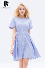 ส่วนลด เสื้อกระโปรงขนาดเล็กสดกระโปรงผ้ากอซฤดูร้อนใหม่ แสงสีฟ้า Unbranded Generic