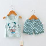 ราคา ชุดการ์ตูนเด็กทารกใหม่เสื้อกั๊ก แพนด้าเสื้อกั๊กสูท สีเขียวเข้ม ใหม่