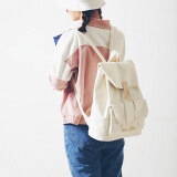 ราคา ฮาราจูกุเดินทางถุงสดกระเป๋าเป้ผ้าใบวิทยาเขตสาว สีขาว ที่สุด
