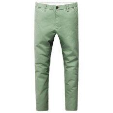 ขาย กางเกงขายาว ทรงเล็ก สไตล์เกาหลี 2017 หญ้าสีเขียว เป็นต้นฉบับ