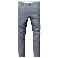 ขาย กางเกงขายาว ทรงเล็ก สไตล์เกาหลี 2017 สีเทา ฮ่องกง