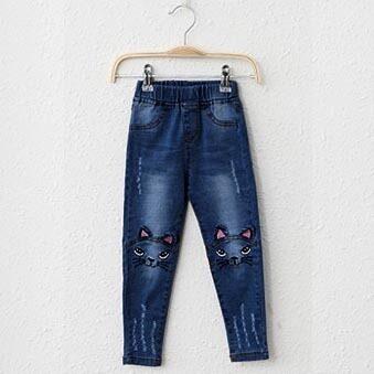 กางเกงเกาหลีกางเกงสาวกางเกงยีนส์ใหม่ (สีน้ำเงินเข้มผ้ายีนส์กางเกง)