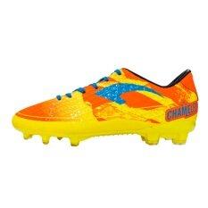 ทบทวน รองเท้าฟุตบอลแกรนด์สปอร์ต รุ่น คะมีเลี่ยน สีเหลือง ส้ม