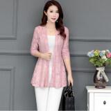 ซื้อ หญิงฤดูใบไม้ผลิและฤดูใบไม้ร่วงลูกไม้เสื้อสเวตเตอร์ถักเสื้อบาง สีชมพู ออนไลน์ ฮ่องกง