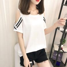 ส่วนลด สินค้า หลวมหญิงฝ้ายแขนสั้นไซส์พิเศษไซส์ใหญ่พิเศษเสื้อเสื้อยืด สีขาว