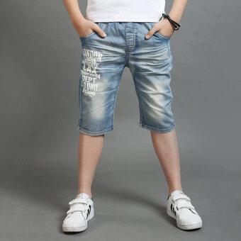 กางเกงยีนส์ลำลอง ขา5ส่วน ของเด็กผู้ชาย ยี่ห้อLiliao (สีรูปภาพ) (สีรูปภาพ)