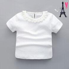 ราคา ทารกผ้าฝ้ายสีขาวในช่วงฤดูร้อนหญิงขนาดเล็กเสื้อผ้าเด็ก สีขาว Other