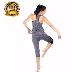 ขาย ไซส์ L ชุดเสื้อกล้ามและกางเกงออกกำลังกาย สีเทา ออนไลน์ กรุงเทพมหานคร