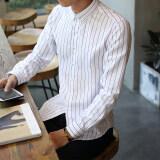 ซื้อ เกาหลีรุ่นชายลายเสื้อ สีขาว ออนไลน์