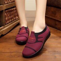 ขาย รองเท้าฤดูใบไม้ผลิใหม่ยายรองเท้าผ้าแม่ สีแดง ถูก