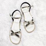 ราคา รองเท้าสไตล์มินิมอล ดีไซน์เส้นไขว้หน้า พร้อมสายหลัง สีเงิน Shoes By Naris ออนไลน์