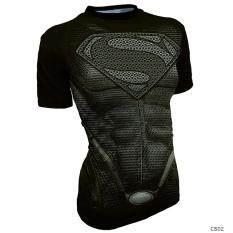 ราคา ราคาถูกที่สุด เสื้อออกกำลังกายสำหรับนักวิ่งชาย รัดรูป สีเงิน สีเงิน