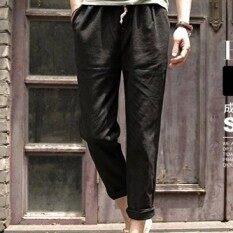 กางเกงเวอร์ชั่นเกาหลีถุงน่องกางเกงสีขาวผู้ชายฤดูใบไม้ผลิ สีดำ เป็นต้นฉบับ