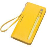 ขาย กระเป๋าสตางค์ผู้หญิง ขนาดเล็ก ทรงยาว สีเหลือง สีเหลือง Other