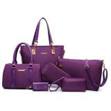 ขาย ชุดกระเป๋าแพ็ค6กระเป๋า ของผู้หญิง กระเป๋า ลำลอง ไนล่อนผ้าสีม่วง ไนล่อนผ้าสีม่วง ราคาถูกที่สุด
