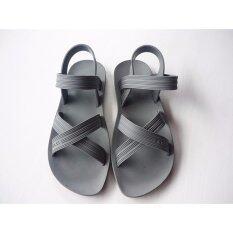 ราคา รองเท้ารัดส้นยาง สีเทา Unbranded Generic ออนไลน์