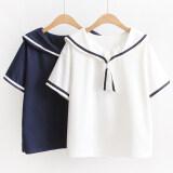 ทบทวน เสื้อยืดญี่ปุ่นฤดูร้อนใหม่น้ำเงินปก น้ำเงิน Unbranded Generic
