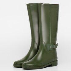 คลาสสิกของอังกฤษและฤดูร้อน Gaotong กันน้ำฝนรองเท้าบูท กองทัพสีเขียว ถูก