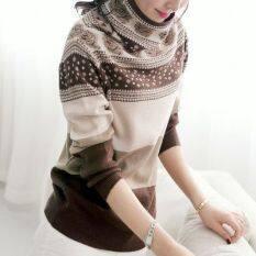 ทุกวันเวอร์ชั่นเกาหลีหญิงกองปกเสื้อสวมหัวถักเสื้อแฟชั่นเสื้อโค้ท สีน้ำตาล อูฐ Thailand