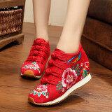 ราคา ลมเชื้อชาติจีนลมฤดูใบไม้ผลิรองเท้าเต้นรำ สีแดง ใหม่ล่าสุด