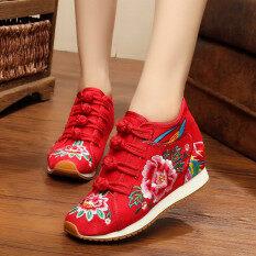 ลมเชื้อชาติจีนลมฤดูใบไม้ผลิรองเท้าเต้นรำ สีแดง ถูก