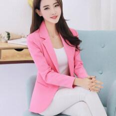 ขาย สง่างามเกาหลีใหม่ในช่วงฤดูร้อนบางผู้หญิงแจ็คเก็ต สีชมพู ฮ่องกง