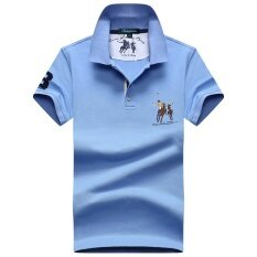 ขาย เสื้อยืดผ้าฝ้ายผู้ชาย ระบายอากาศได้ดี Bodeybinleo สีฟ้าอ่อน สีฟ้าอ่อน Unbranded Generic เป็นต้นฉบับ