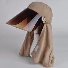 ขาย หมวกเลนส์กันแสงยูวี ผ้าคลุมผมสีกากี ออนไลน์
