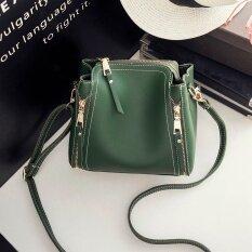 ซื้อ กระเป๋าสะพายไหล่แฟชั่นกระเป๋าหญิงใหม่ สีเขียว ออนไลน์