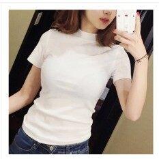 ป่าสีทึบผู้หญิงใหม่ท็อปส์ซูเสื้อยืด สีขาว Unbranded Generic ถูก ใน ฮ่องกง