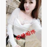 ราคา เสื้อเกาหลีใหม่ลูกไม้คอ V สีขาว เป็นต้นฉบับ Unbranded Generic