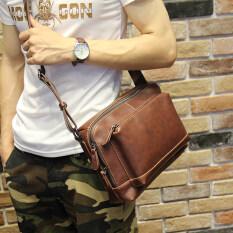 ราคา กระเป๋าสะพายข้าง ชาย แนวนอน สะพายไขว้ได้ สไตล์ญี่ปุ่นเกาหลี กาแฟสี กาแฟสี เป็นต้นฉบับ