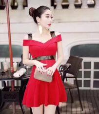 เกาหลีหญิงใหม่เซ็กซี่สลิงชุด สีแดง เป็นต้นฉบับ