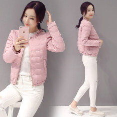 ซื้อ เกาหลีหญิงผอมอบอุ่นแฟชั่นสั้นเบาะผ้าฝ้ายกวาดล้าง สีชมพู Other ออนไลน์