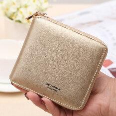 ราคา สี่เหลี่ยมเล็กๆเกาหลีหญิงซิปกระเป๋ากระเป๋าสตางค์กระเป๋าเงินกระเป๋า สีทอง สีทอง เป็นต้นฉบับ