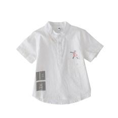 ราคา วรรคฤดูร้อนใหม่เด็กชายแขนสั้นทารกเสื้อ สีขาว