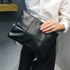 คลัทช์ญี่ปุ่นกระเป๋าคลัทช์หนังธุรกิจชาย (สีดำ).