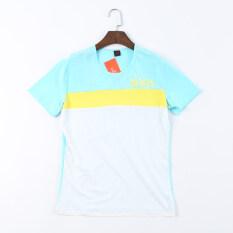 ราคา คู่เกาหลีแขนสั้นเสื้อยืด สีฟ้าสีเหลืองสีขาว ออนไลน์ ฮ่องกง
