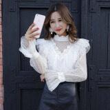 ซื้อ เสื้อลูกไม้ คอสูงของผู้หญิง สีชมพู สีขาว สีดำ สีขาว สีขาว ใน ฮ่องกง